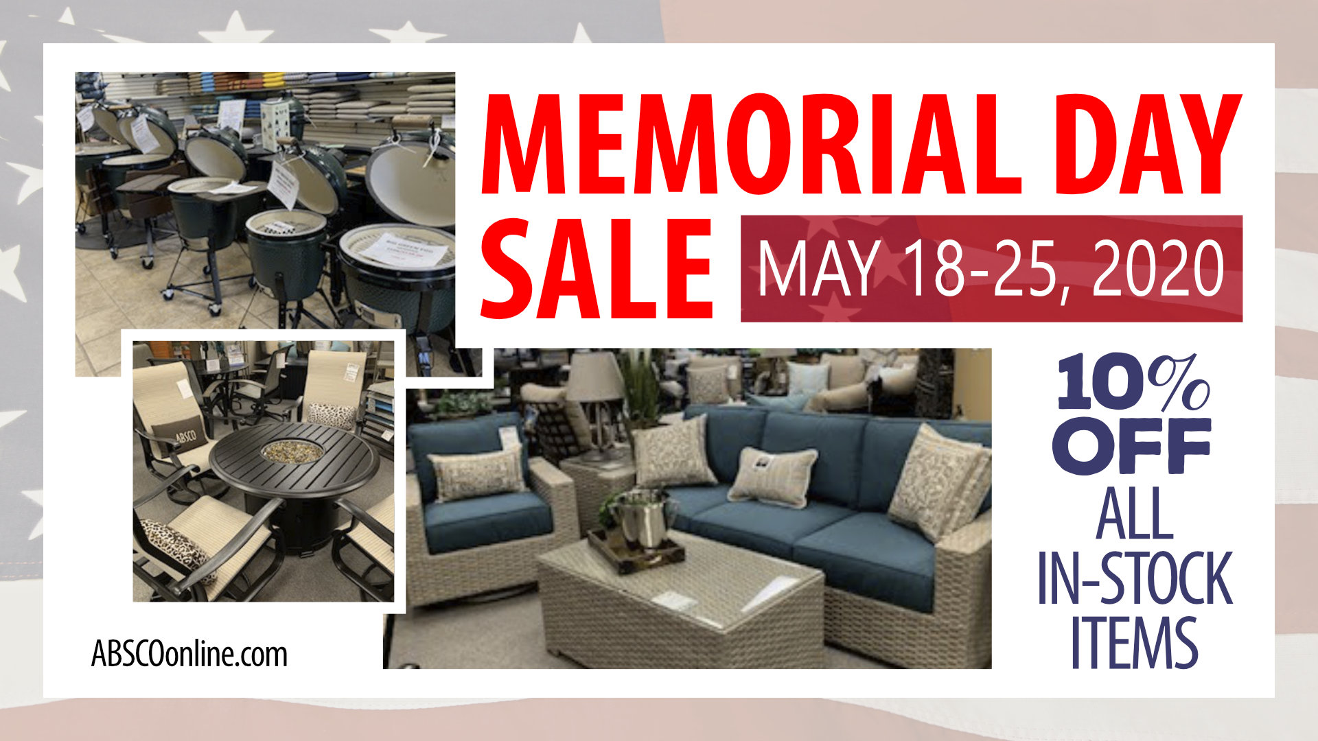 Memorial Day Sale at ABSCO