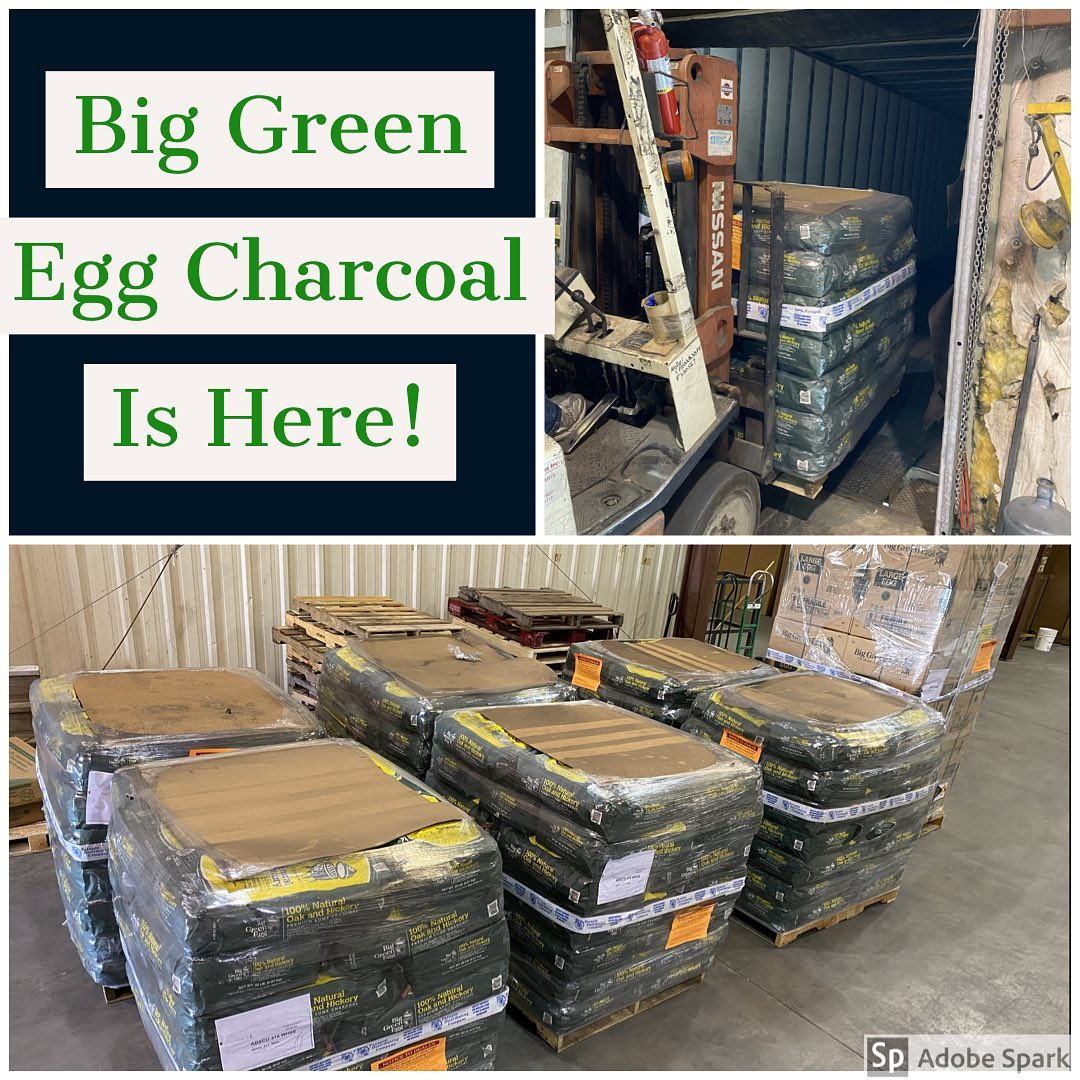 Big Green Egg charcoal at ABSCO Fireplace & Patio